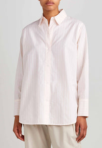 Pauly Shirt - Mock Rose Stripe