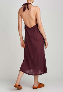 Riviera Cotton Dress - Dark Plum