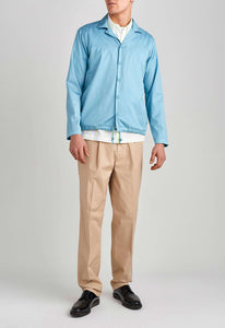 Romeo Cotton Jacket - Mid Cyan