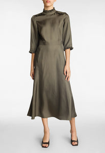 Sera Silk Dress - Dark Duco