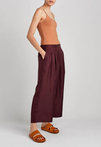 Vista Silk Pant - Dark Plum