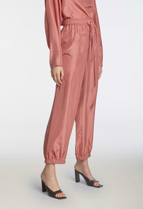 Warm Up Silk Pant - Rose Blush