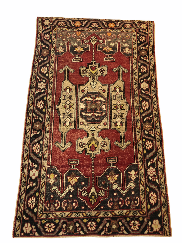 4'11 x 8'6 Antique Turkish Area Rug