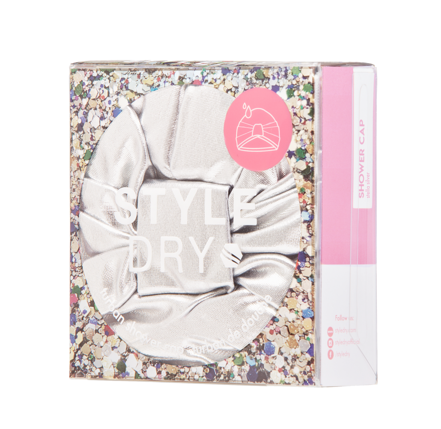 Styledry | Turban Shower Cap - Disco Made Me Do It - Colour: Stella Silver