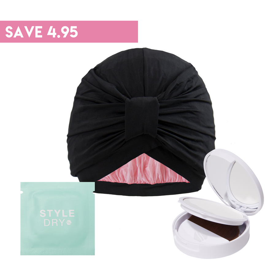 Starter Bundle (Shower Cap + Compact Powder + Blotting Papers)