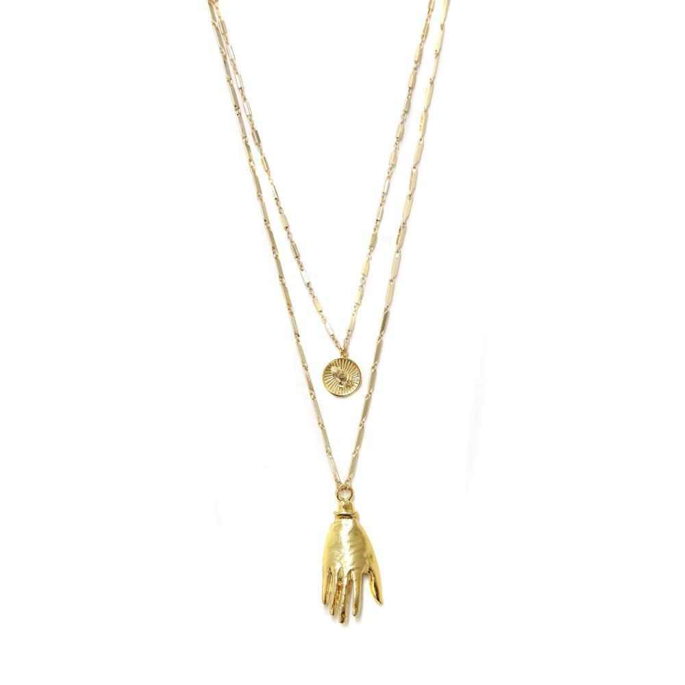 HAND AND COIN - NECKLACE - CACHICCI