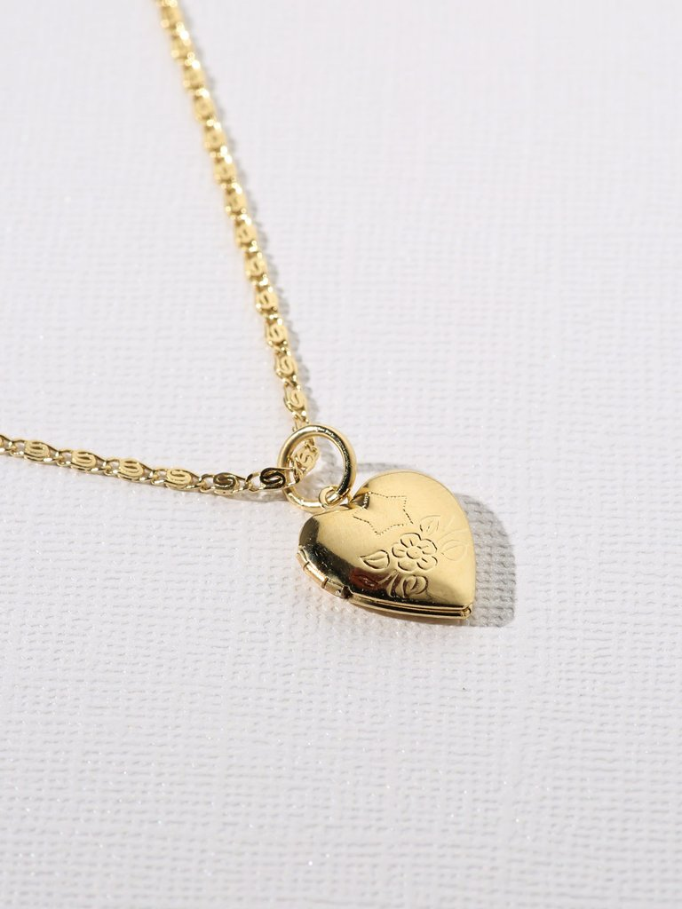 HEART LOCKET NECKLACE-CACHICCI-CACHICCI