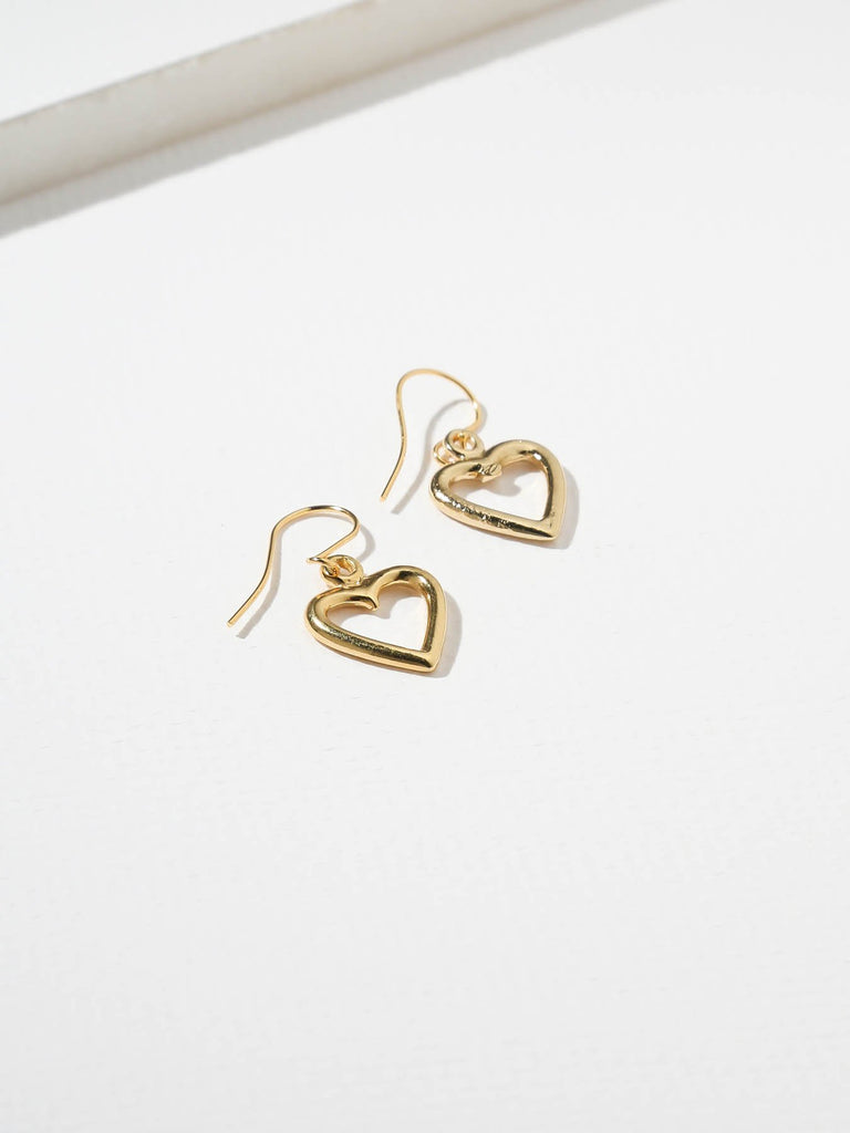 THE MINI CUT-OUT HEART EARRINGS-CACHICCI-CACHICCI