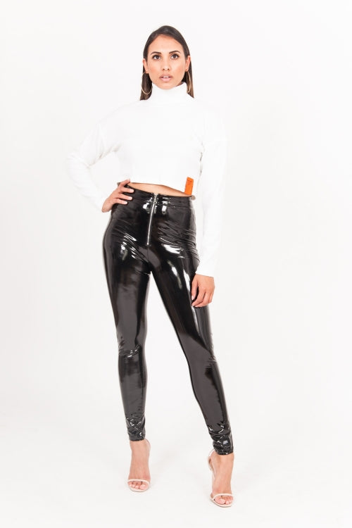 Vinyl Zip Leggings - CACHICCI