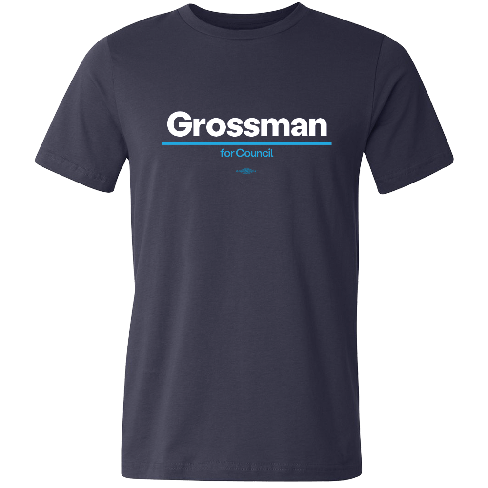 Kurt Grossman for City Council T-shirt Shirts Mary Wineberg Short Sleeve T-Shirt Heather Charcoal S