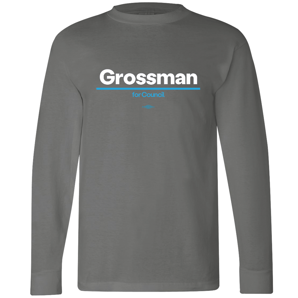 Kurt Grossman for City Council Long Sleeve Tee Shirts Mary Wineberg Long Sleeve T-shirt Grey S