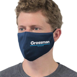 Kevin Grossman For City Council Mask - Blue Kurt Grossman