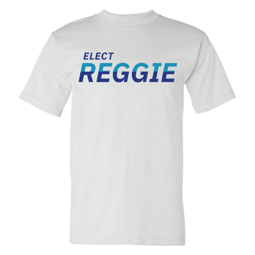 Elect Reggie Harris For City Council - Short Sleeve Tee Shirts unionstrongshirts Short Sleeve T-Shirt Light Blue S