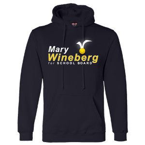 Mary Wineberg for School Board Hooded Sweatshirt Shirts Mary Wineberg Hooded Sweatshirt Navy S