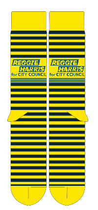 Reggie Harris For City Council Socks Shirts unionstrongshirts