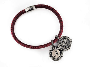 Alabama National Champions nappa leather bracelet