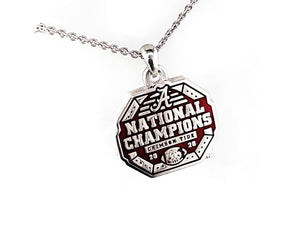 Alabama National Champions Enameled Logo Pendant