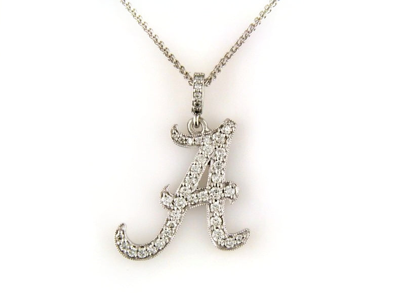 Alabama 'A' 14k Diamond Pendant