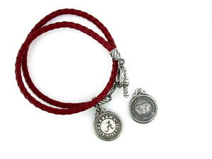 ALabama Leather - Sterling Silver Bracelet
