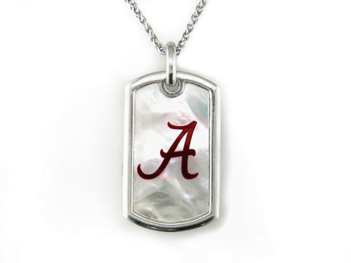 Alabama Mother of Pearl Dogtag