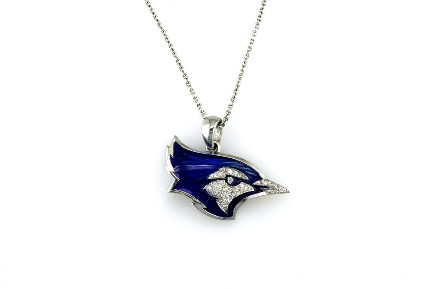 Creighton Bluejays Diamond Pendant