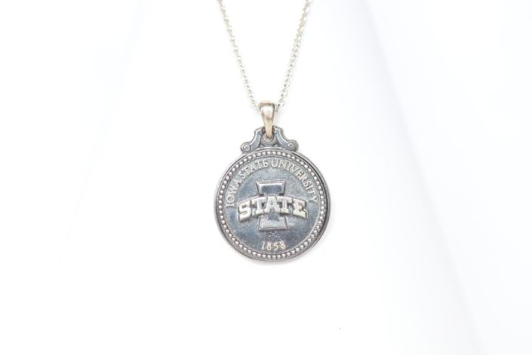 Iowa State Sterling Coin Necklace