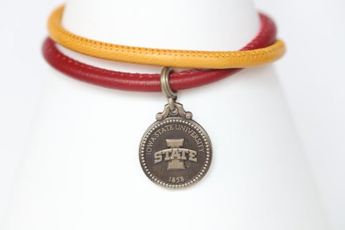 Iowa State Double Wrap Coin Bracelet