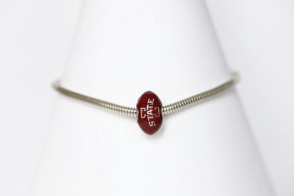 Iowa State Enameled Football Bracelet