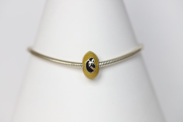 Iowa Enameled Football Bracelet