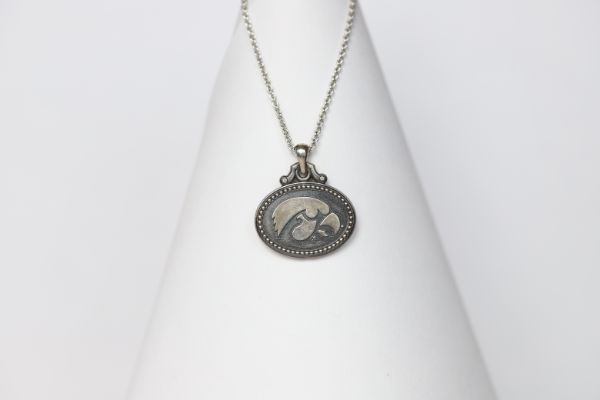 Iowa Sterling Coin Necklace