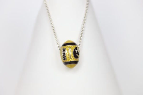 Iowa Enameled Football Pendant