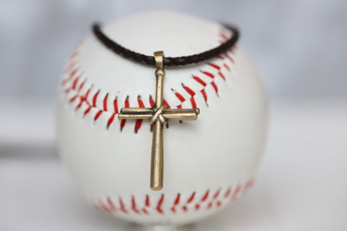 Bronze Cross on Leather for Men Kids Boys