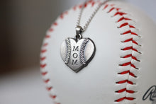 Load image into Gallery viewer, This one is for the biggest fan, the one who doesn't ever miss a game and proudly sports her favorite players number win or lose. This one is for you, Mom!   Product Details  Features Mom engraving Sterling silver Sterling silver cable chain Lobster clasp Pendant: 22mm Necklace box included