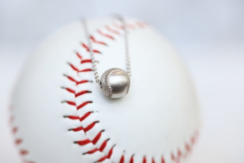 Wear this Baseball Pendant on game day and everyday!  Product Details  Sterling silver 18