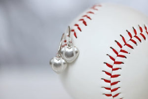 Baseball Heart Earrings