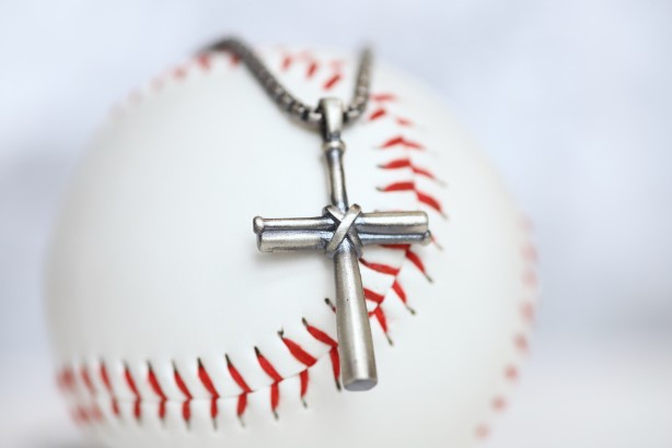 Our largest baseball cross pendant! Perfect for making a statement! Product Details  Sterling silver cross pendant Sterling silver rounded box chain Lobster clasp Choose from 22