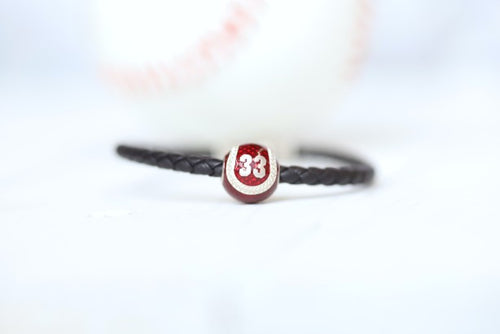 Men's Personalize Baseball Bracelet