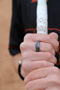 Baseball Stitch Ring 8mm