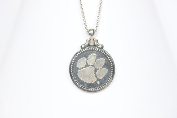 Clemson Sterling Coin Necklace