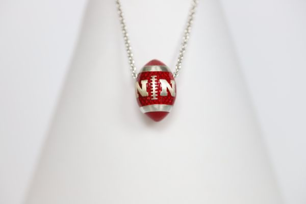 Nebraska Enameled Football Pendant