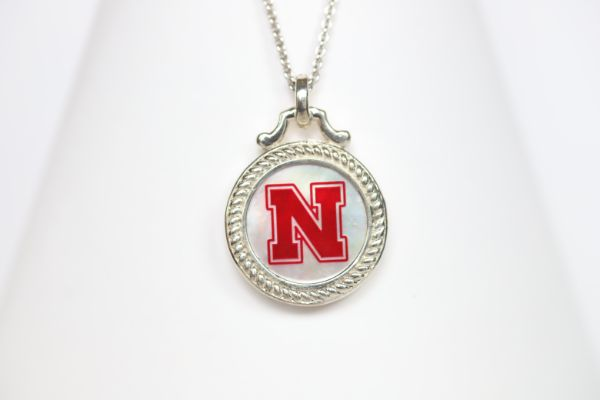 Nebraska Large Round Mother of Pearl Necklace