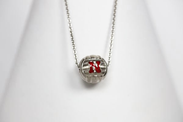 Nebraska Enameled Volleyball Pendant