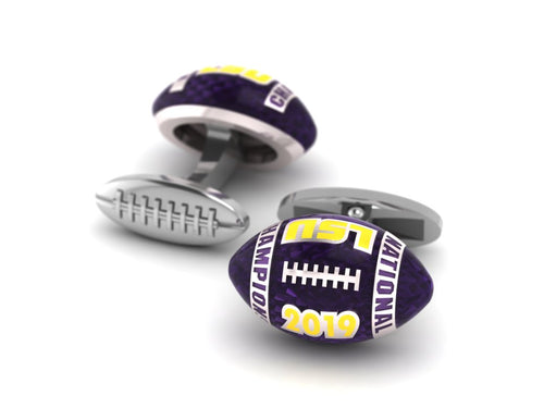 LSU National Champions Football cufflinks