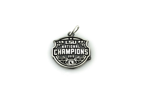 LSU National Champions Antiqued Flat Charm