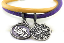 Load image into Gallery viewer, LSU National Champions Double Wrap Coin Bracelet