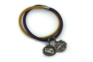 LSU National Champions Double Wrap Coin Bracelet