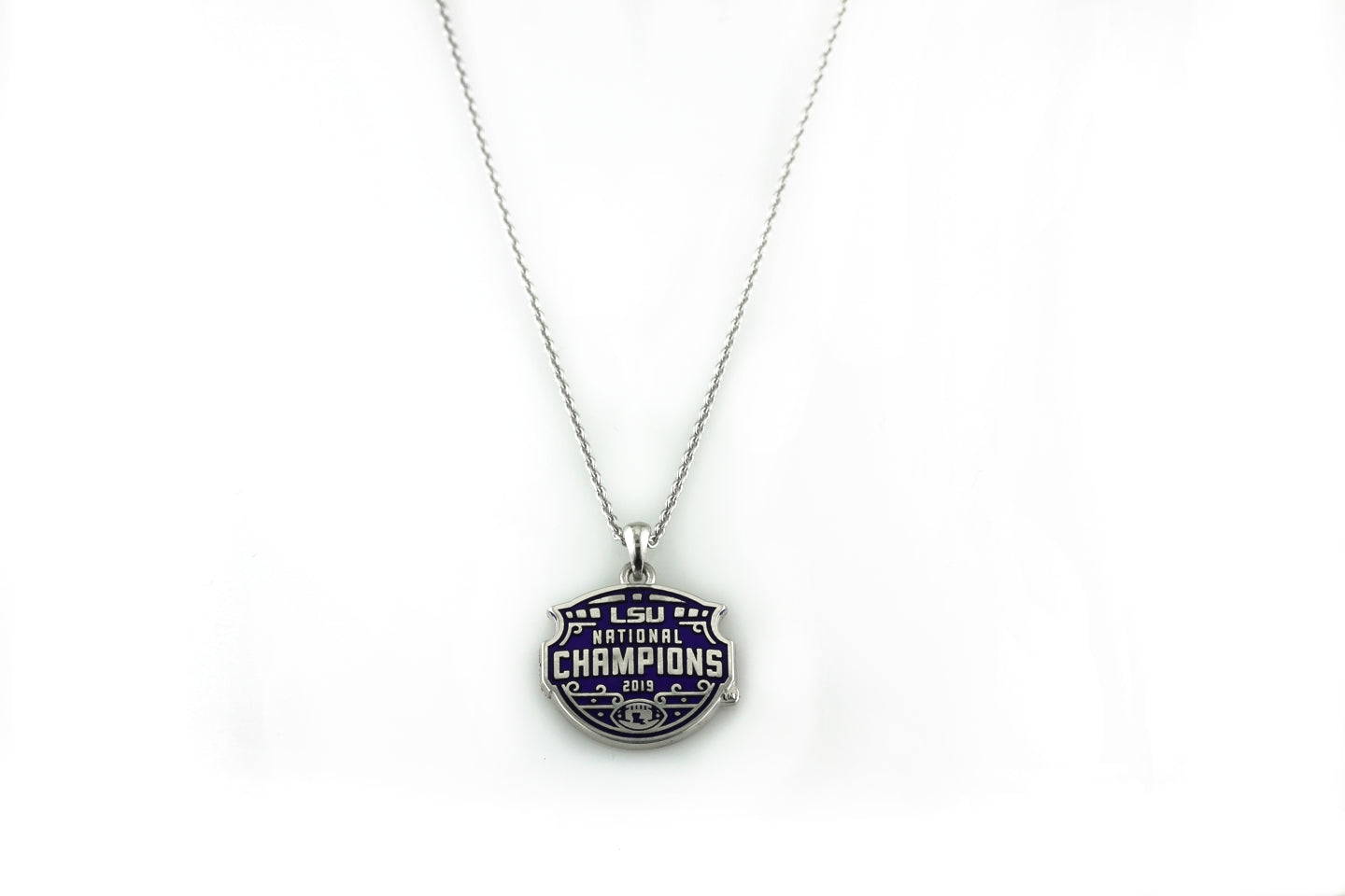 LSU National Champions Enameled Pendant