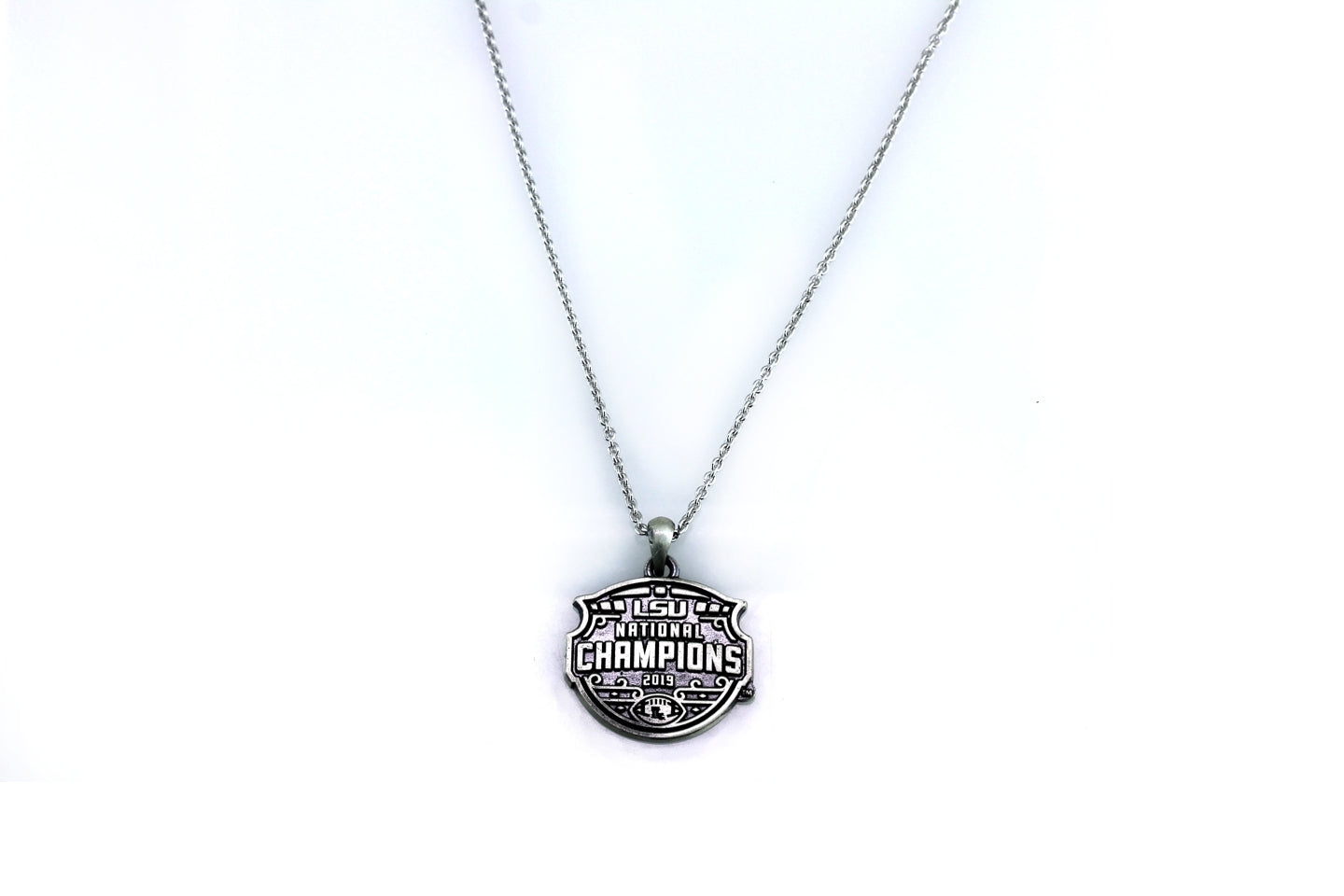 LSU National Champions Antiqued Flat Pendant