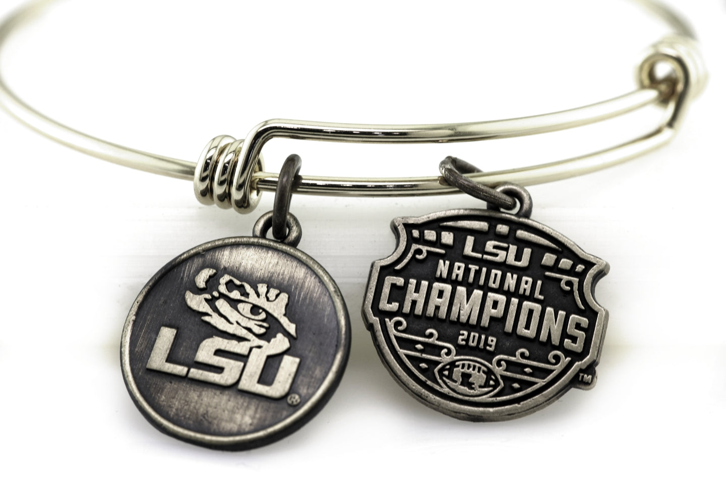 LSU National Champions Expandable Charm Bracelet