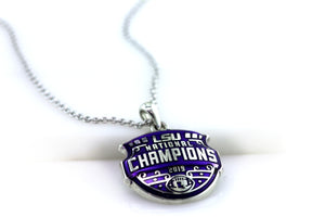 LSU National Champions Sculpted Enameled Pendant